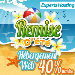 Remise d'été – Hébergement Web